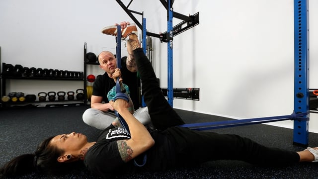 Classic Banded Hamstring Stretch